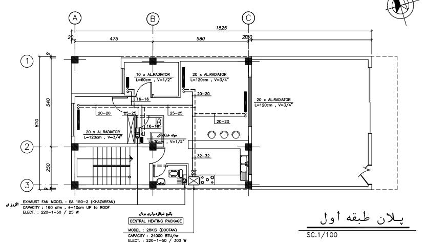 نمونه نقشه تاسیسات ساختمانی
